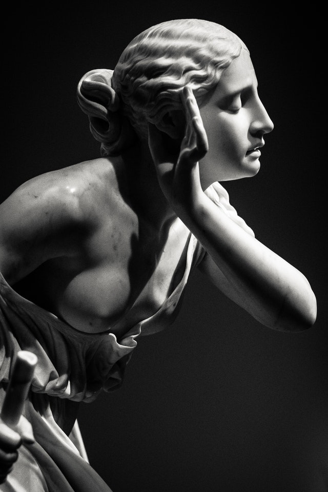 marble sculpture after conservations services
